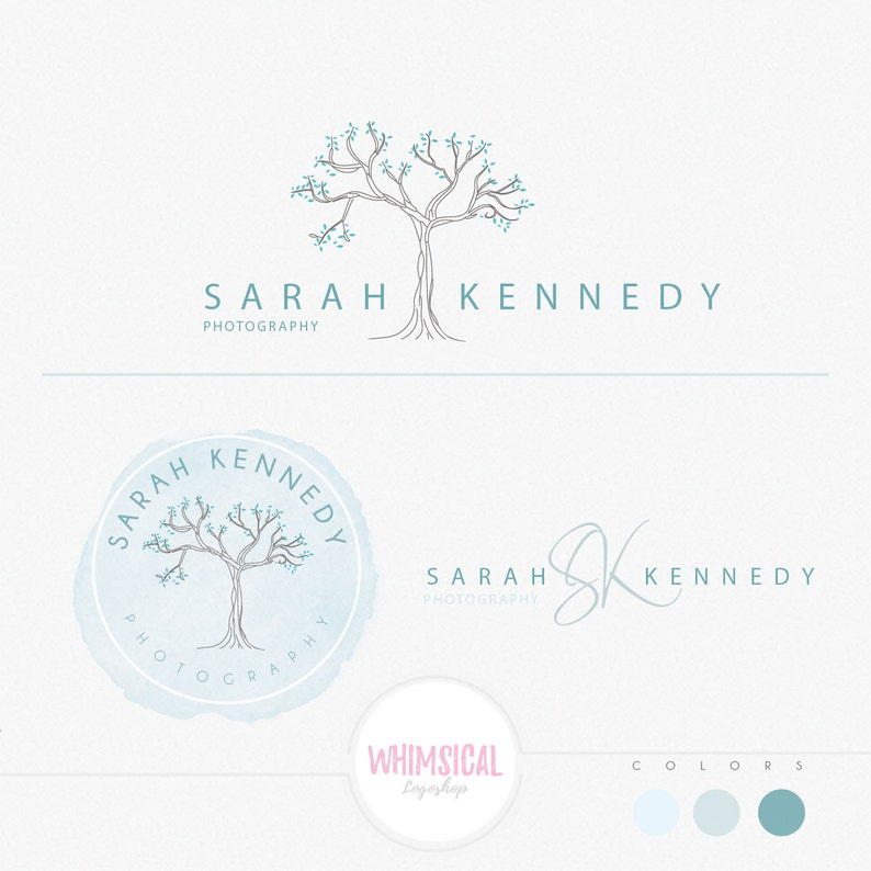 Simple Big tree   Premade Photography Logo and Watermark image 0