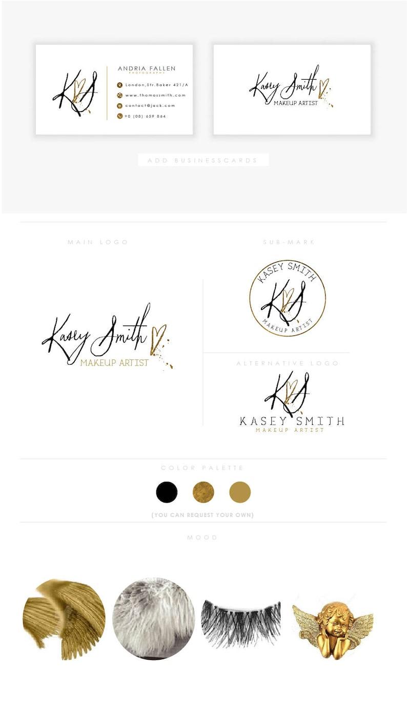 heart splash artistic  branding initials businesscards modern image 0