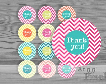 printable pink flowers labels template thank you and blank etsy