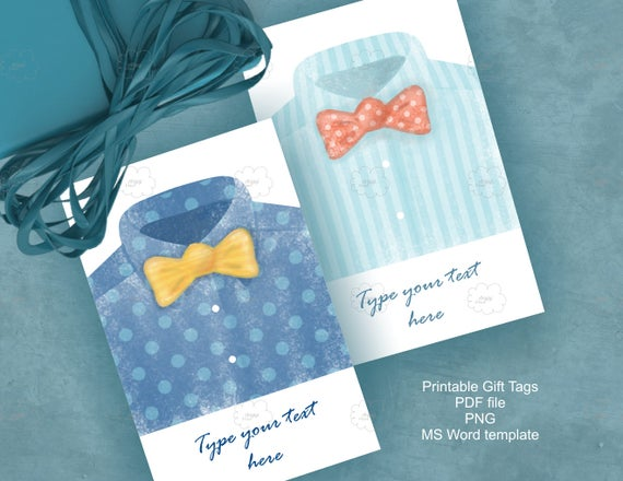 watercolor father s day tags editable gift tags ms word etsy