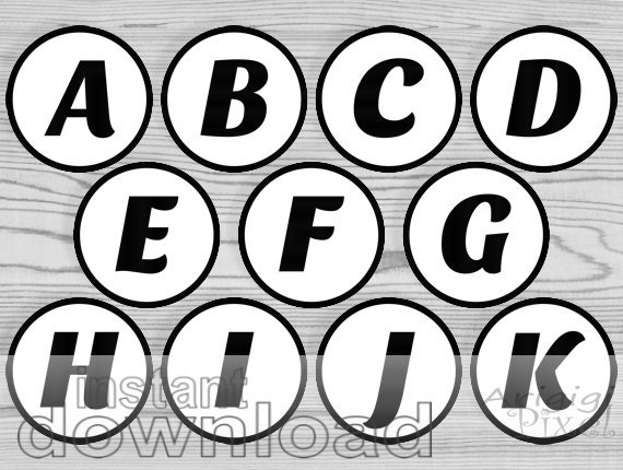 Free Printable Alphabet In Circles