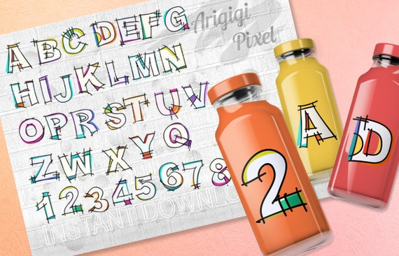 Hand Lettering Alphabet ClipArt - creative English letters A