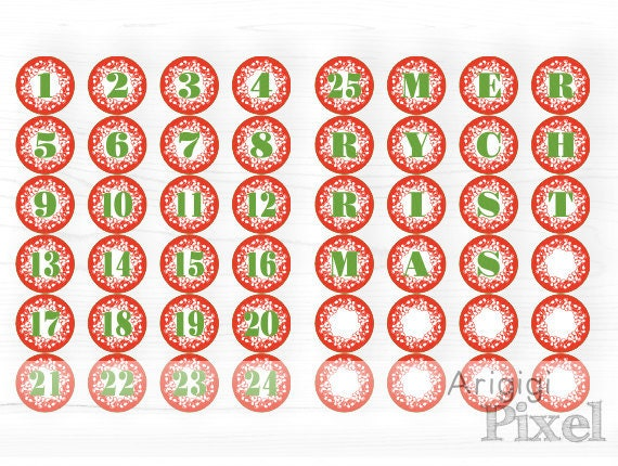 graphic relating to Advent Calendar Numbers Printable known as Printable Introduction Calendar Quantities 1-25, Letters MERRY Xmas , Purple Holiday vacation Decoration, circle printables arrival down load