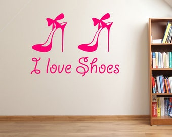 """I Love Shoes"""" Wall Stickers A89"""