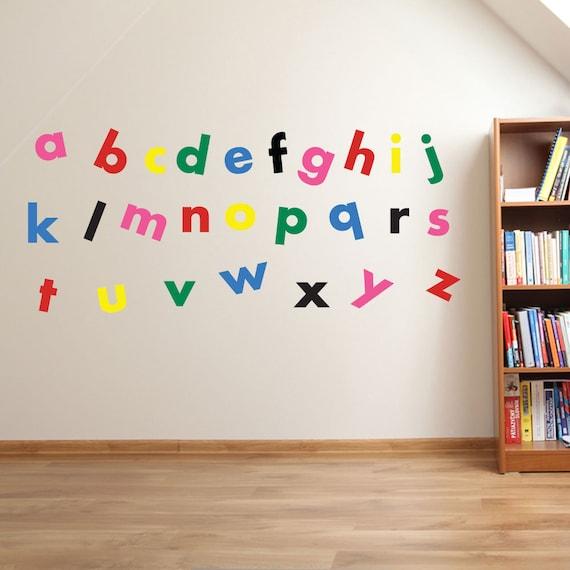 A to Z Alphabet Wall Stickers Kids Nursery Play Room Home Art   Etsy