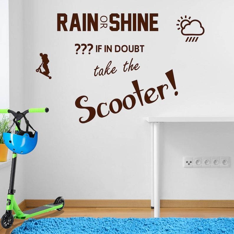 Rain or Shine Scoot Wall Sticker A106