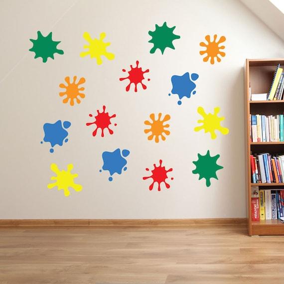 Kids Paint Blobs Wall Stickers Kids Nursery Play Room Home Art   Etsy