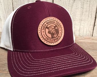 Custom Richardson 112 Leather Patch Hat e67bcbe9382