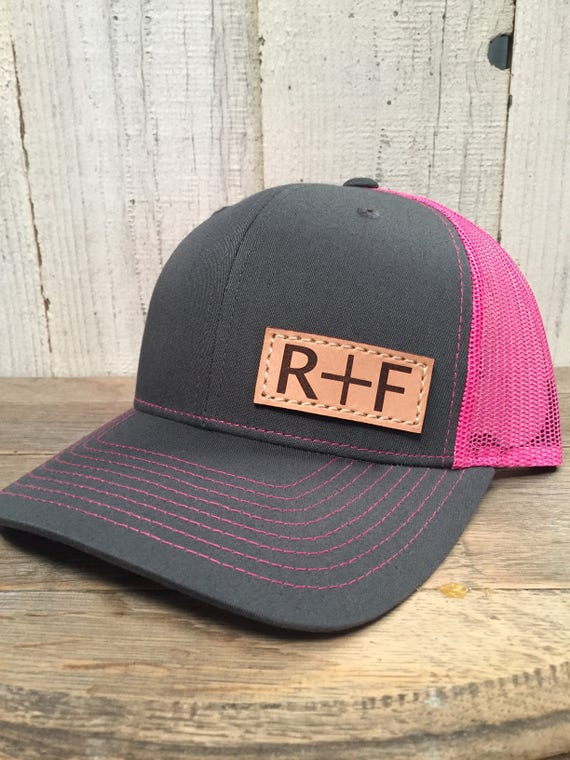 YOU ME Custom Hat with Initials Richardson 112 Leather  bd8c173d4aa9