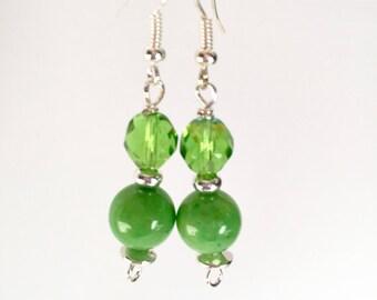 Lime Green Earrings - Lime Green Dangle Earrings - Green Statement Earrings - Colorful earrings