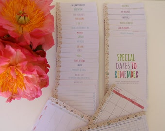Personal Size Filofax Kikki K Inserts - List and Planning Pages - DOTTY Design - Bright Colorful Inspiring