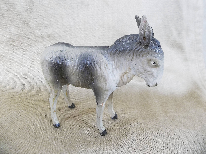 German Nativity Donkey Stick Leg Composite Body Figurine | Etsy