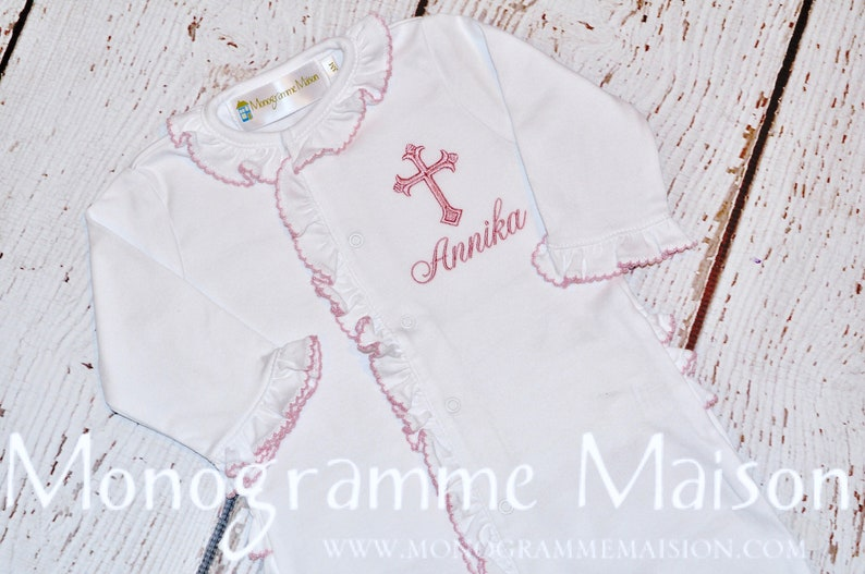 Baby Girl Christening Outfit  Baptism Outfit  Dedication image 0