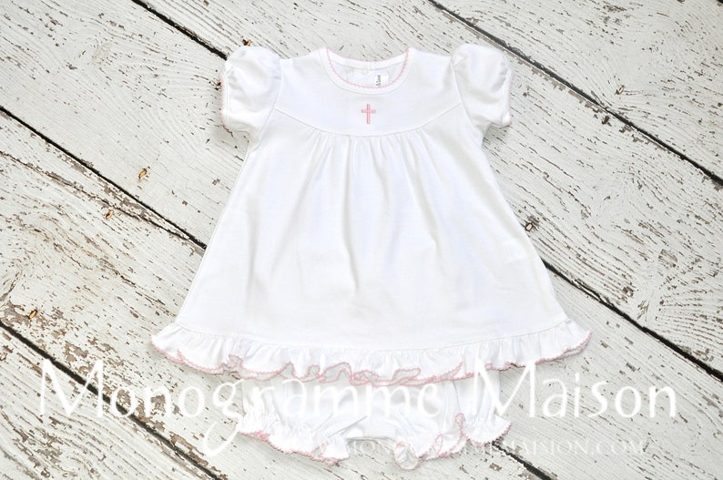 Baby Girl Christening Dress  Baptism Outfit  Dedication image 0