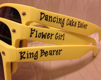 Set of Flower Girl/Ring Bearer sunglasses for the little ones in your bridal party