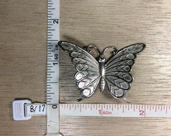 Vintage 925 Sterling Silver 9.3g Butterfly Pin Brooch Used