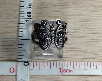 Vintage 925 Sterling Silver 4.2g Butterfly Ring Size 5 Used