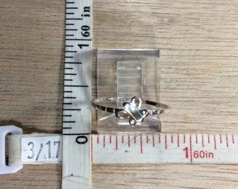 Vintage 925 Sterling Silver .6g Butterfly Ring Size 6 Used