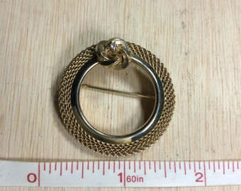 Gold Tone With CZ Pin Brooch Used