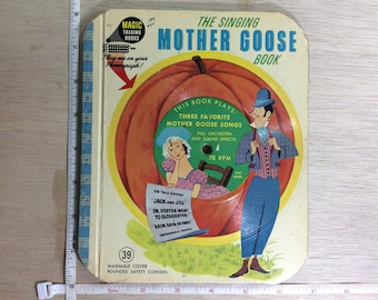 Vintage Mother Goose Magic Talking Book The John C Winston Co 1955 Used