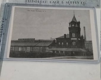Vintage used Erie Railroad Depot Postcard Rochester New York