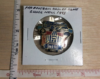 1993 Pro Football Hall Of Fame Chuck Noll Pin Brooch Medal Used