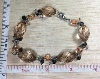 """Just Peachy 8.5"""" Bracelet Plastic Beads Used"""