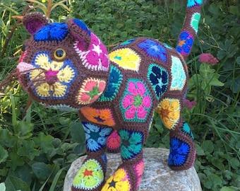 Sherlock the African Flower Cat Crochet Pattern ONLY - Download PDF