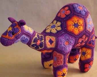 Custom Handmade African flower Camel