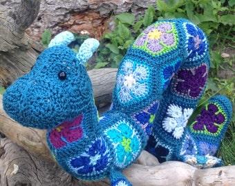 Hydra the Large African Flower Ogopogo crochet pattern - digital