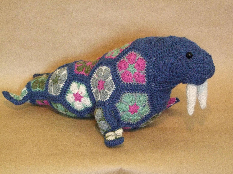 Wally The African Flower Walrus Crochet Pattern Download Etsy