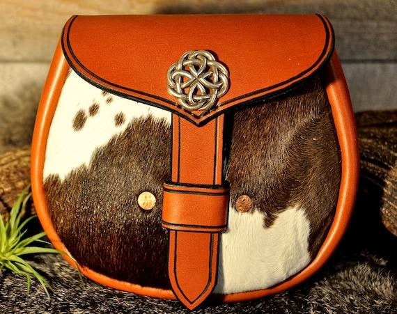 Kilt Bag, Sporran, Belt Bag, Viking Pouch, Leather Sporran, Belt Pouch, Larp, Celtic Bag, Casual Sporran