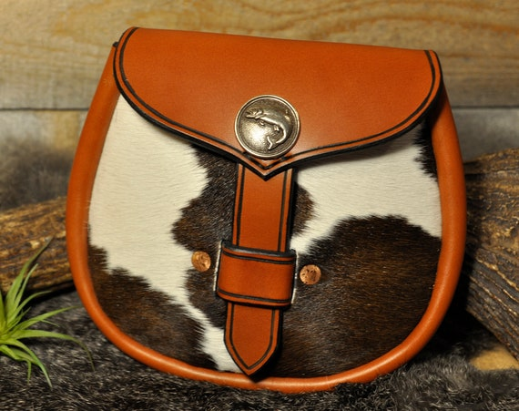 Leather Sporran, Kilt Bag, Belt Bag, Viking Bag, Larp Bag, Belt Pouch, Leather Pouch, Day Sporran, Scottish Bag, Kilt Pouch,