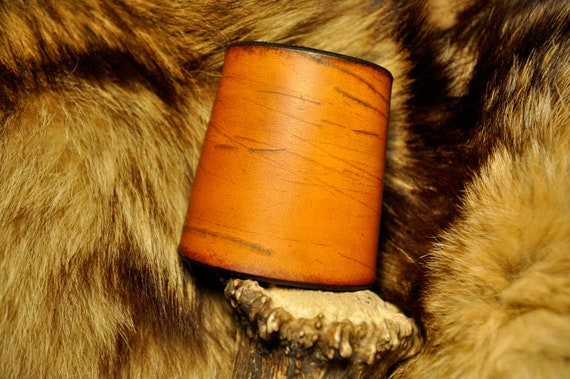 Leather Bracer - Leather Cuff - Rustic Bracelet - Western - Cowhide