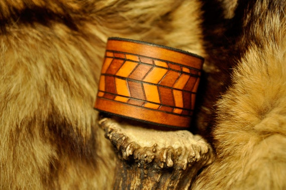 Bracelet - Leather Cuff - Boho Bracer - Tribal Cuff - Leather Jewelry - Leather Craft Cuff