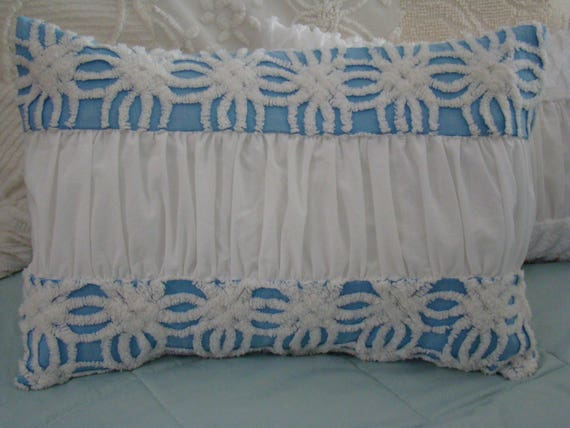vintage chenille pillow cover by