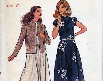 Vintage Boxy Jacket & Full Skirt Dress pattern, Butterick 3517, Misses sizes 12, 14, 16