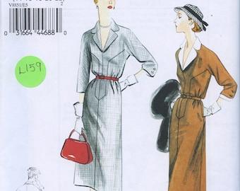 Vintage 1950s Dress Belted Blue Linen Gorgeous 50s D L Barron Unworn 14