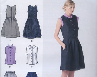Size H5 6-8-10-12-14 Simplicity Sewing Pattern 2215 Misses and Miss Petite Dresses Cynthia Rowley Collection