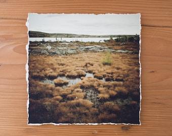Nunavik Landscape 6x6 inch giclee fine art photography print with torn edge