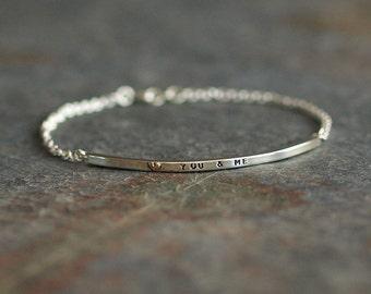Personalised Sterling Silver Heart Ball Bracelet Handmade unique bespoke custom