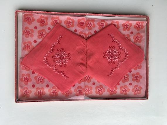 kawaii cotton handkerchief SABINE 60s italy vintage handkerchief