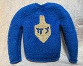 Hannukah Elf Sweater - Doll Accessory - Dreidel Shirt - Elf Accessory - Channuka Decor - Holiday Elf Prop - Shelf Doll Props