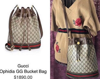 99db80d6a0a Vintage Gucci Bucket Bag -Ophidia