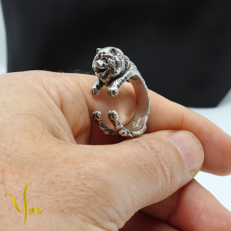 Chow Chow Silver Ring Chow Chow Dog Hnadmade Ring Gift For Animal Lovers Sterling Silver Rings Of Dog Breeds Chow Chow Jewelry