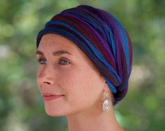 Earth Tones Cover All Head wrap -Turban Wrap - Chemo Hair Scarf Hand made in Australia All Earth Colours