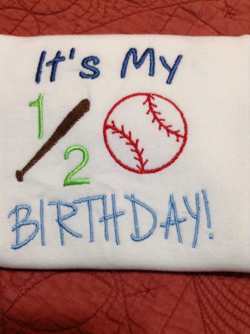 Baseball Birthday Softball Birthday Birthday Half Birthday Child/'s Birthday
