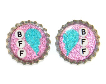 NEW Best Friend Forever Magnets BFF Hearts