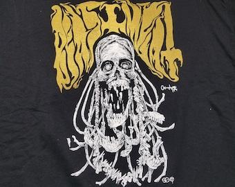 Occult Ancestor Stoner Doom Gold Black Metal Shirt