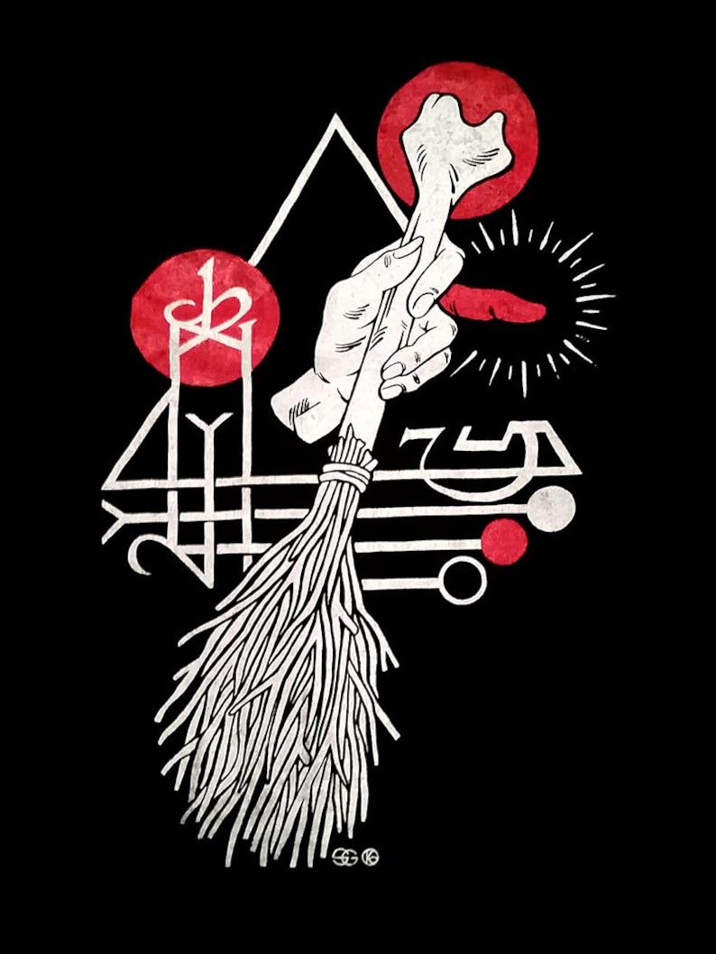Occult Witch Sigil  Black Magic Spellcraft Curse T-Shirt image 0